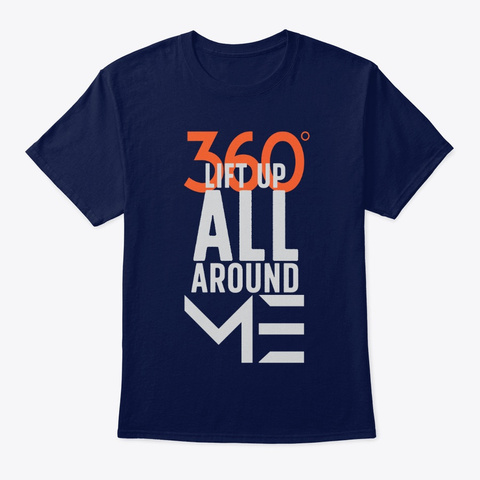360: Lift Up All Around Me   Qore Navy T-Shirt Front