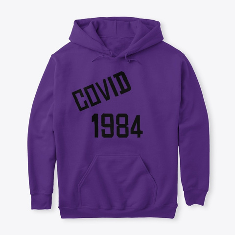 Covid 1984 Purple T-Shirt Front