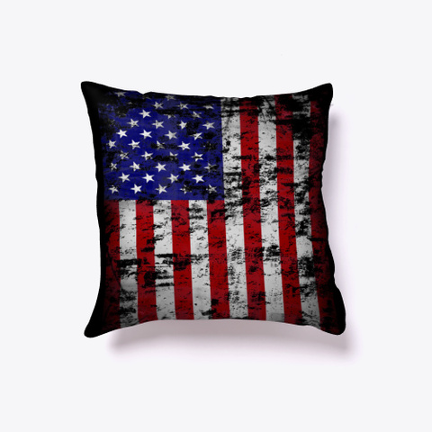 American All Over Pride Print Us Flag  Black T-Shirt Front