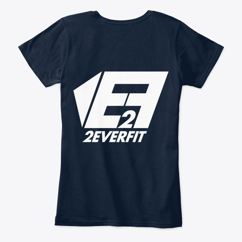 2 Ever Fit #5 Navy Camiseta Back