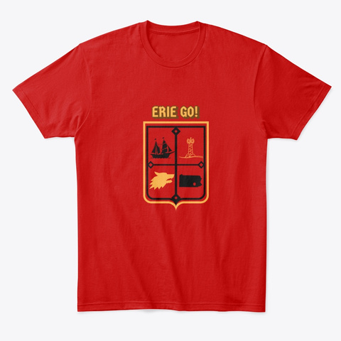 Erie Go Classic Red T-Shirt Front