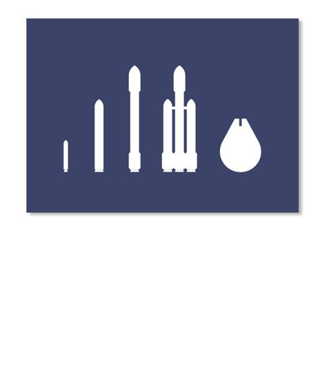 Evolution Of The Falcon 1 [Int] #Sfsf Dark Navy Sticker Front