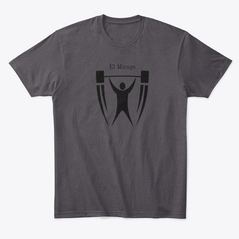 Over Head Press Heathered Charcoal  T-Shirt Front