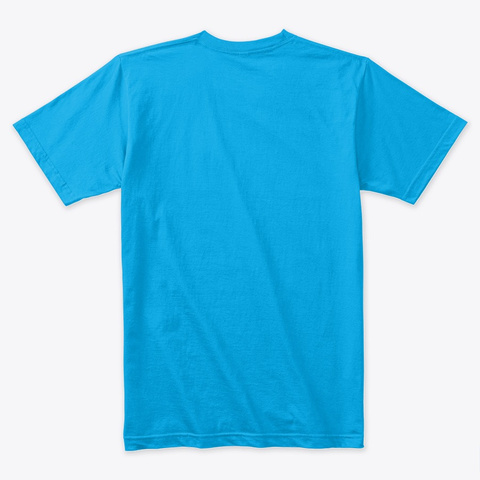 Coffee Addict Turquoise T-Shirt Back