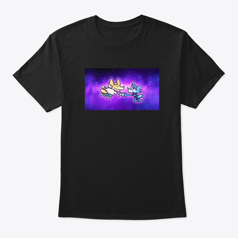Star Foxxed Lovers (Limited!) Black T-Shirt Front