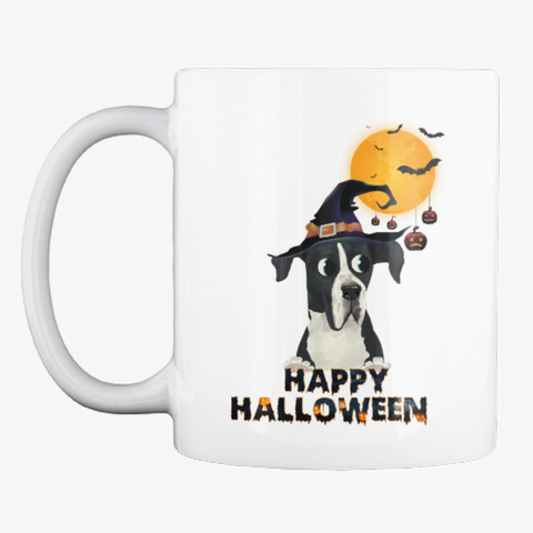 Great Dane Happy Halloween Pack In 2018 White T-Shirt Front