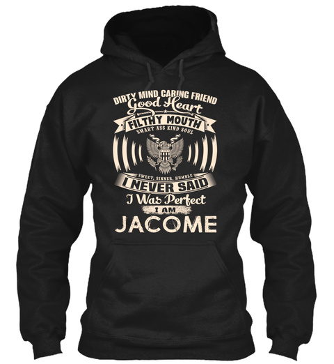 Jacome Name Perfect Black T-Shirt Front