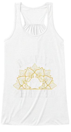 Funny Heavily Meditated Yoga Meditation  White T-Shirt Front