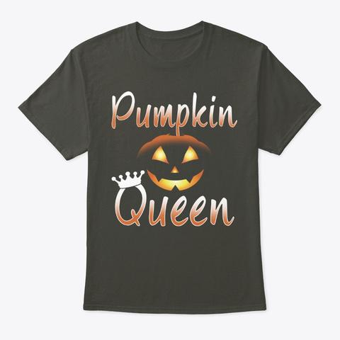 Funny Halloween Pumpkin Queen Smoke Gray T-Shirt Front