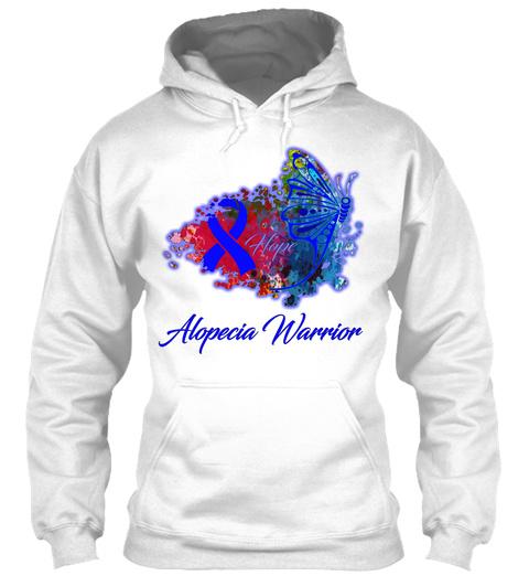 Alopecia Warrior White T-Shirt Front