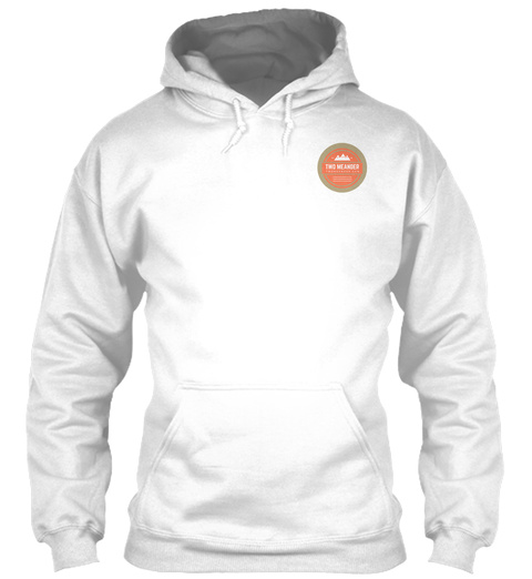 Two Meander Hoodie White Sweatshirt Front