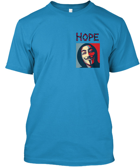 Hope Sapphire T-Shirt Front