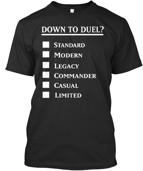 Down To Duel? Black T-Shirt Front