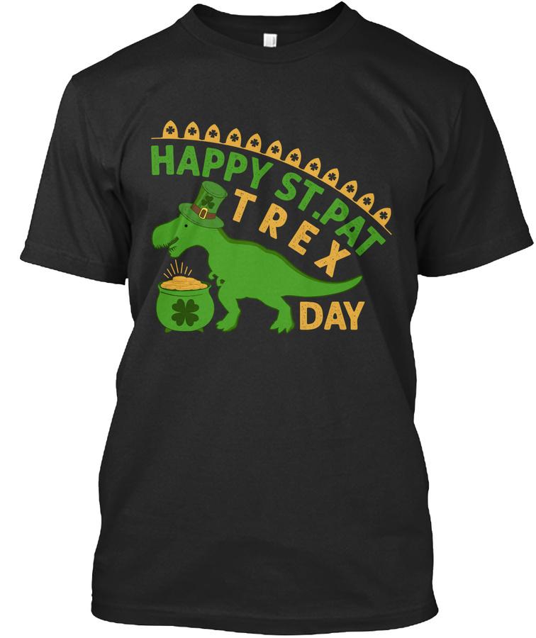 St Pat T-rex Dinosaur St Patricks Day – Hoodie Red Size S