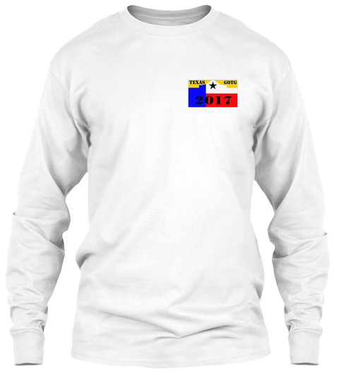 Texas 2017 White T-Shirt Front