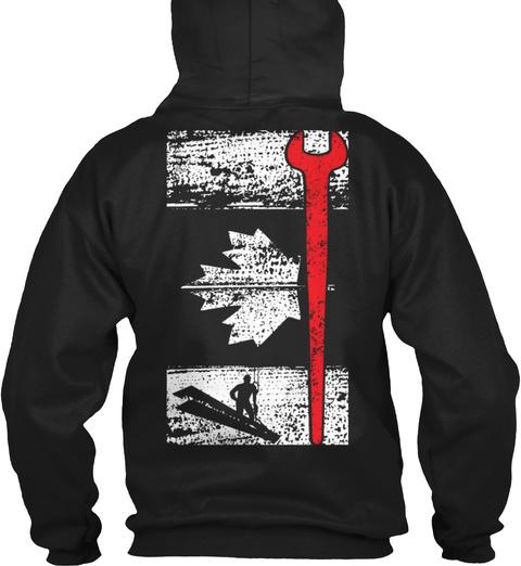 Canadian Ironworker Black T-Shirt Back