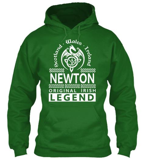 Scotland Wales Ireland Newton Original Irish Legend Irish Green T-Shirt Front