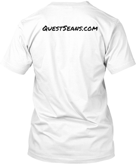 Quest Seans.Com White T-Shirt Back