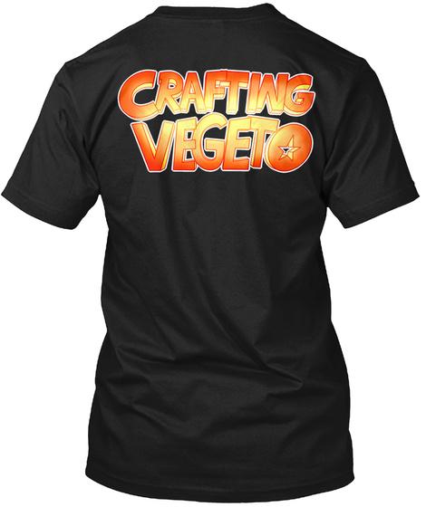 Alternative Crafting Vegeto Black T-Shirt Back