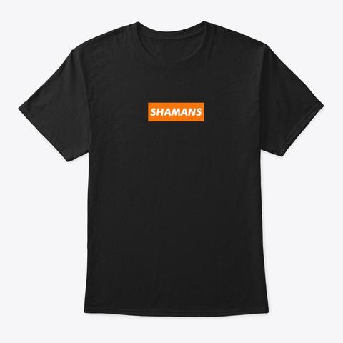 Orange Box Logo Black T-Shirt Front