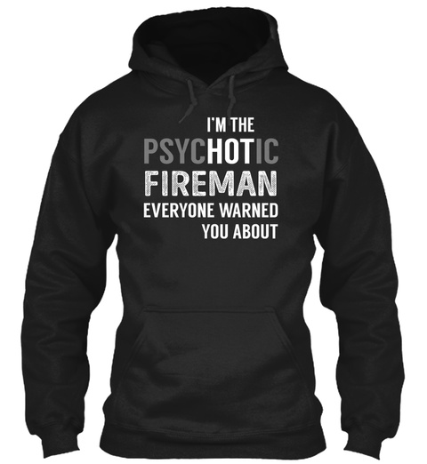 Fireman Black T-Shirt Front