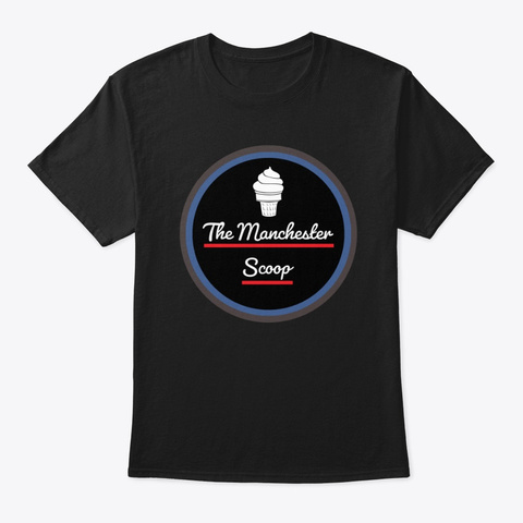 The Manchester Scoop Black T-Shirt Front