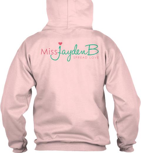 Missjayden B Spread Love Light Pink áo T-Shirt Back