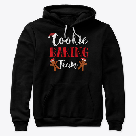 Holiday Christmas Cookie Baking Team Black T-Shirt Front