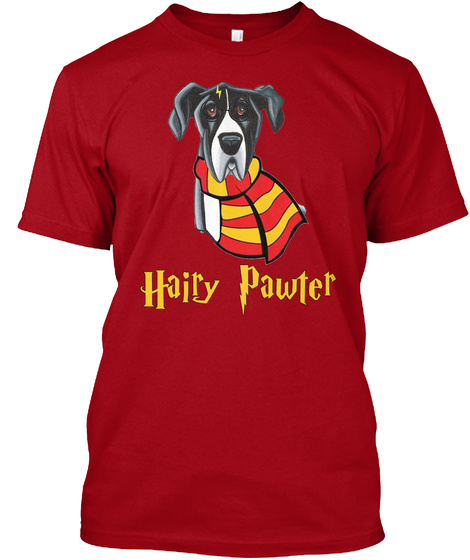 Hairy Pawter Deep Red T-Shirt Front