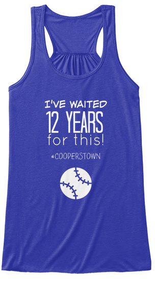 Ive Waited 12 Years For This Cooperstown True Royal Women's Tank Top Front