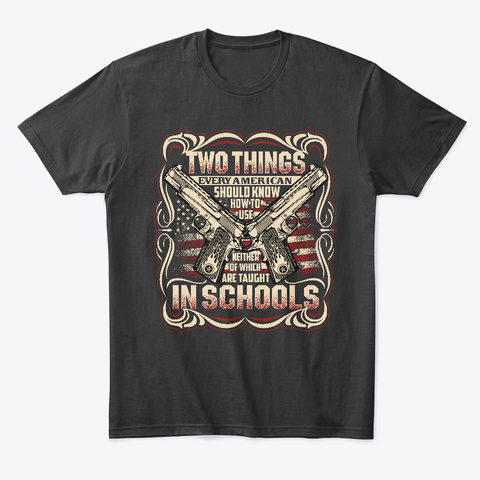 Two Things I Leaned! Black T-Shirt Front