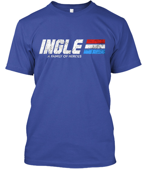 Ingle: A Family Of Heroes Deep Royal T-Shirt Front