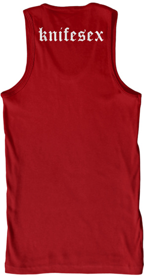 Knifesex Red Tank Top Back