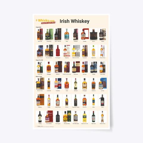 Poster Irish Whiskey 24x36 Standard T-Shirt Front