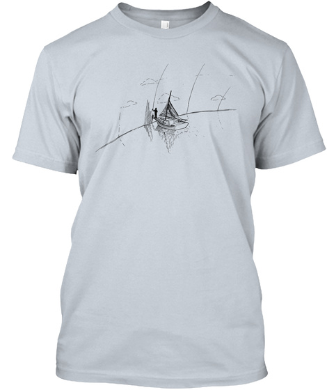 Boat Breaking Thru The Could Wall Shirt New Silver T-Shirt Front