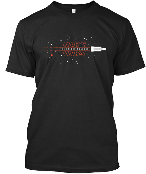 Mars The Falken Awakens Wars Black T-Shirt Front