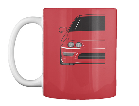 Teggy Mugs Bright Red T-Shirt Front