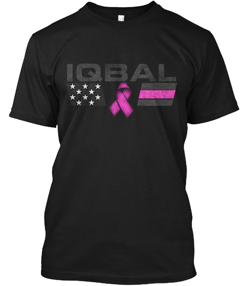 Iqbal Family Breast Cancer Awareness Black T-Shirt Front