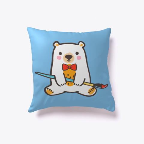 Red Ted Art   Ted Pillow Light Blue T-Shirt Front