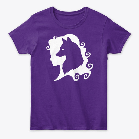 Cheeky Witch®  Wolf Spirit Purple T-Shirt Front