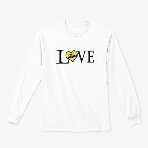 Love The Perce White T-Shirt Front