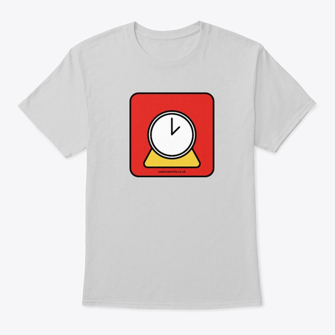 Petworth T Shirt By Colour Points Light Steel T-Shirt Front