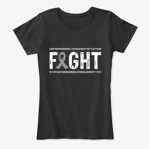 Fight Brain  Cancer Awareness Tee Black T-Shirt Front
