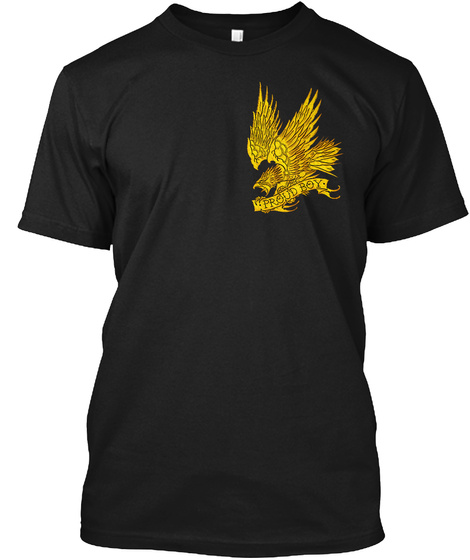 Poyb Eagle Black T-Shirt Front