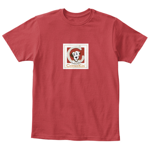 Critter Kin Kids Classic Red T-Shirt Front
