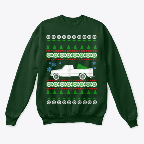 Pick Up W250  Ugly Christmas Sweater Deep Forest  T-Shirt Front
