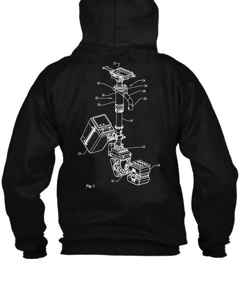 Anatomy Of A Steadicam   Zip Up Hoodie  Black Sweatshirt Back