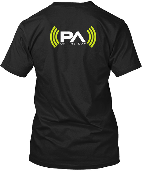 Pa Of The Day Pa Of The Day Black T-Shirt Back