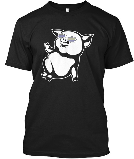 Pig Black T-Shirt Front
