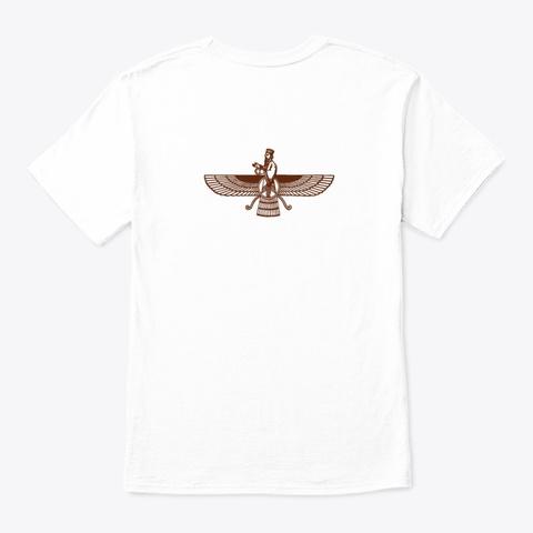 Persian Art | Fravashi, فروهر, Farvahar White T-Shirt Back